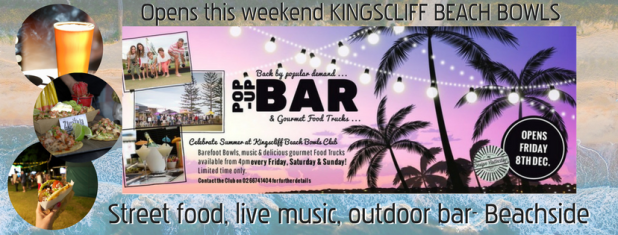 Street food, live music, outdoor bar- Beachside